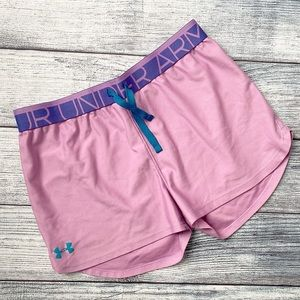 Under Armour pink shorts YXL